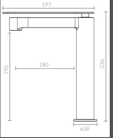 Misturador  Monocomando Para Lavatório Bica  Alta