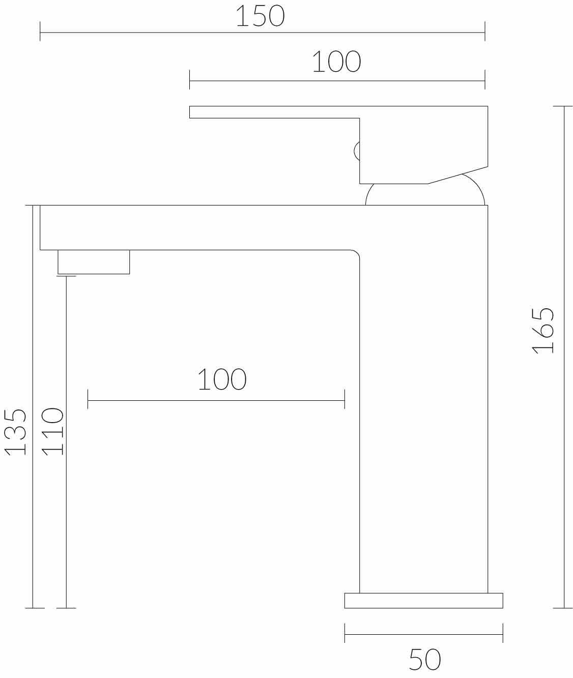 Misturador  Monocomando Para Lavatório Bica Baixa