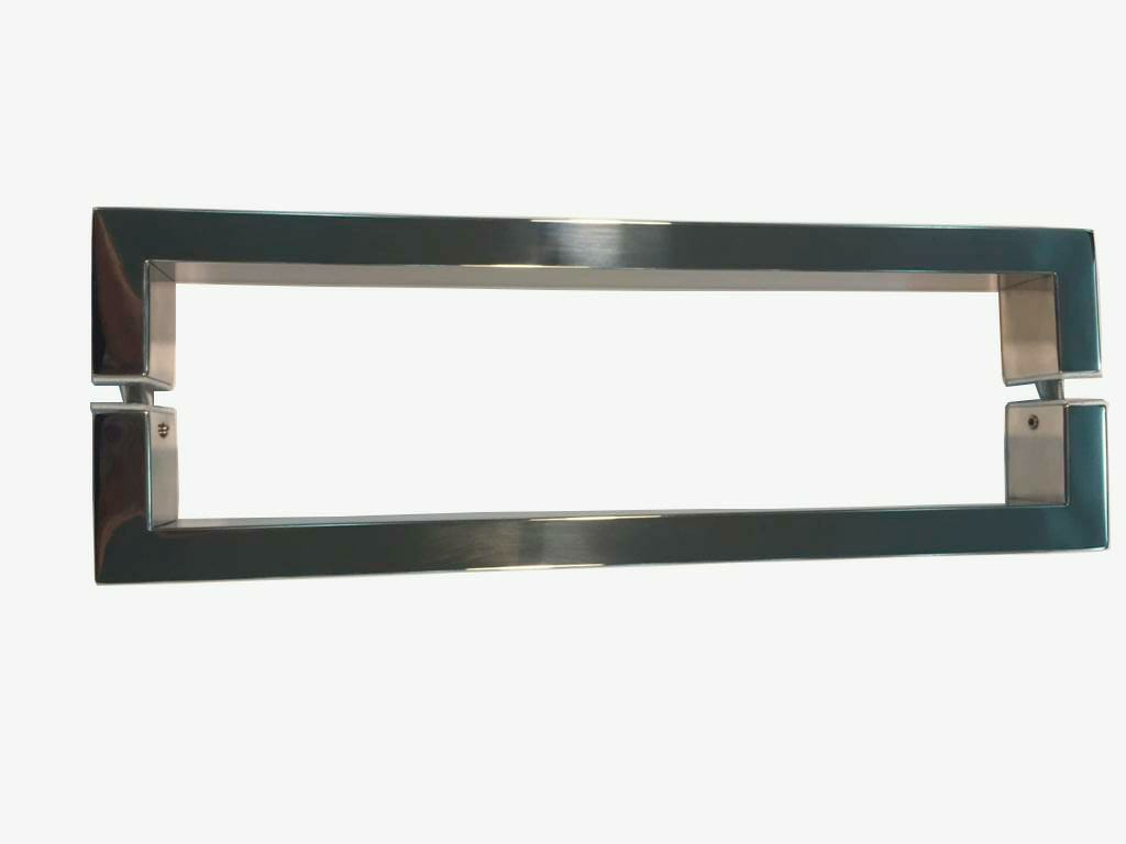 Puxador Porta Madeira/Vidro 100% Inox 304 Polido 60 CM.