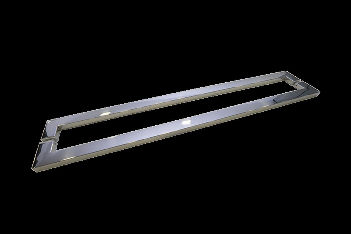Puxador Porta Madeira/Vidro 100% Inox 304 Polido 80 CM.