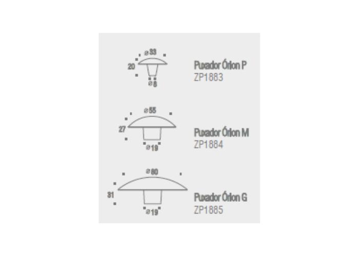 Puxador Zen Orion (33 x 20 mm) 916 Niquel Escovado com Verniz