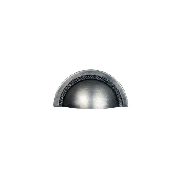 Puxador Zen Shell 64mm 916 Niquel Ecovado com Verniz