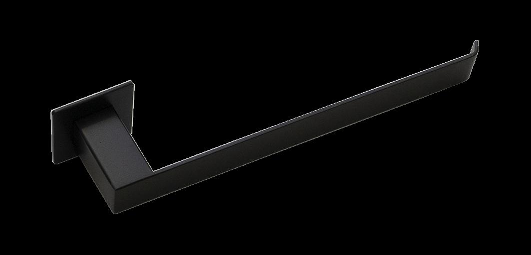 Toalheiro de Rosto Steel Inox Preto Fosco