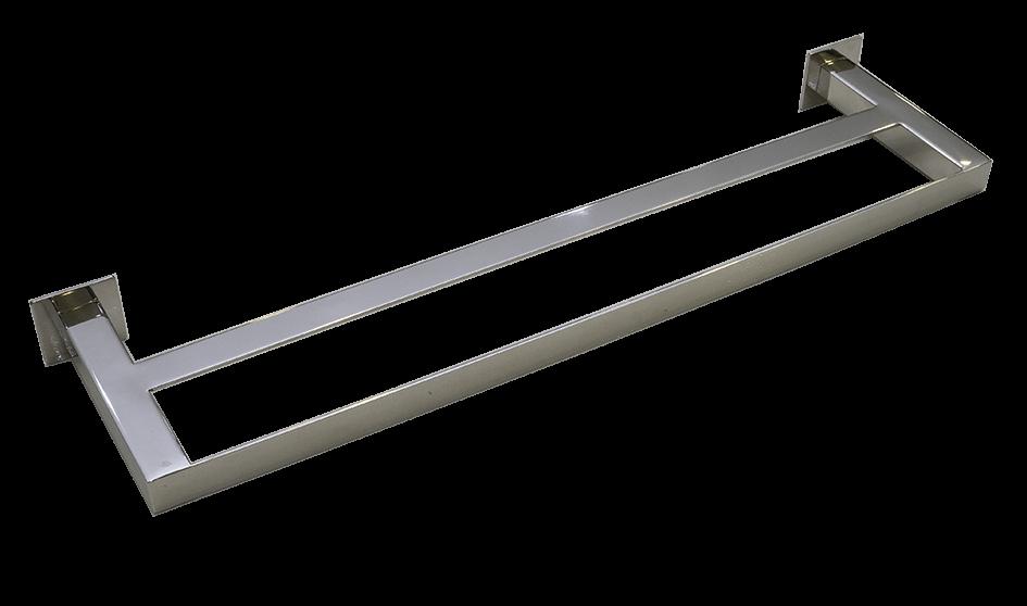 Toalheiro Duplo Steel Inox Polido 700mm
