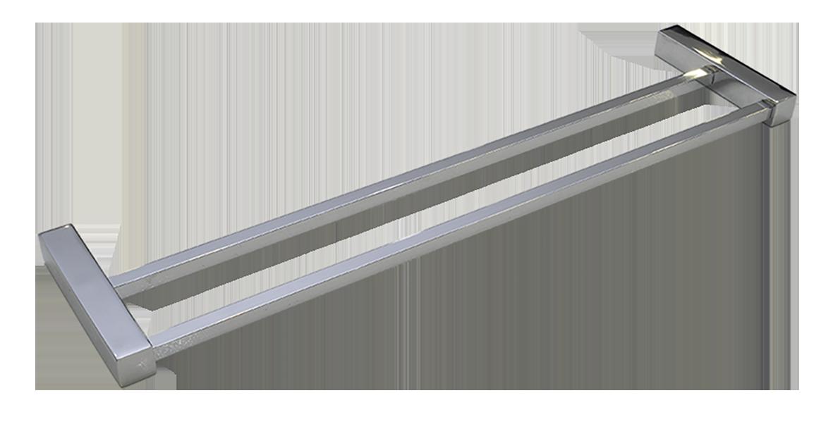 Toalheiro Duplo Ilheus 100% Inox 304 Polido 500mm