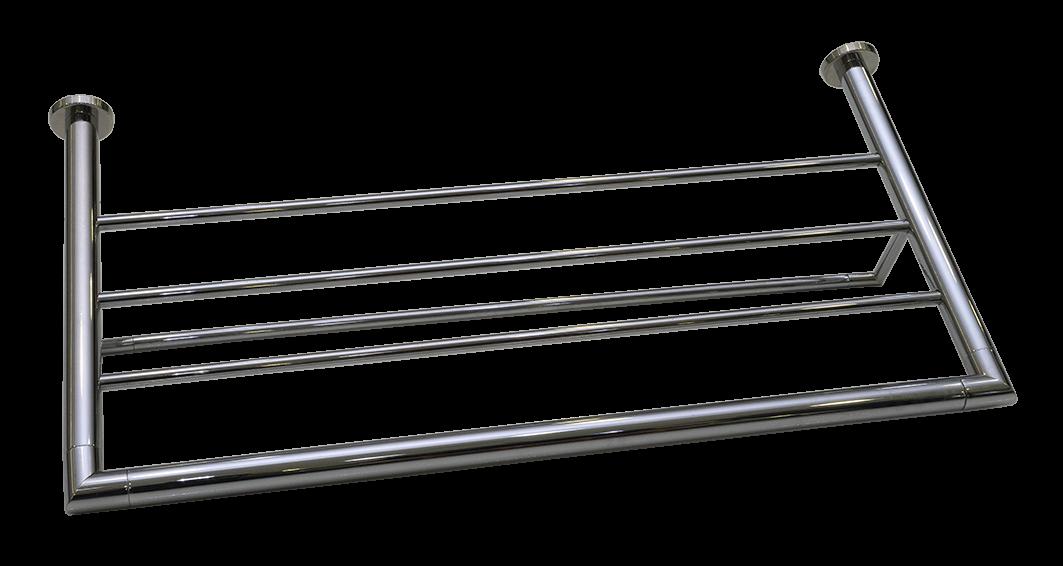 Toalheiro Rack Maresias 100% Inox 304 Polido 600mm
