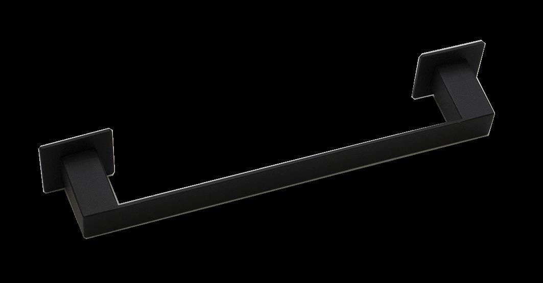 Toalheiro Steel Inox Preto Fosco 300mm