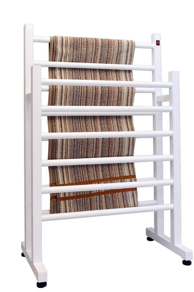 Toalheiro Térmico Duplo Branco ou Preto Linha Aluminium