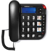 Telefone Intelbras Tok Facil ID com fio com teclas grandes