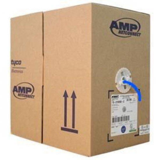 Cabo de Rede UTP Cat.6 AMP Commscope Azul CM Caixa com 305 Metros