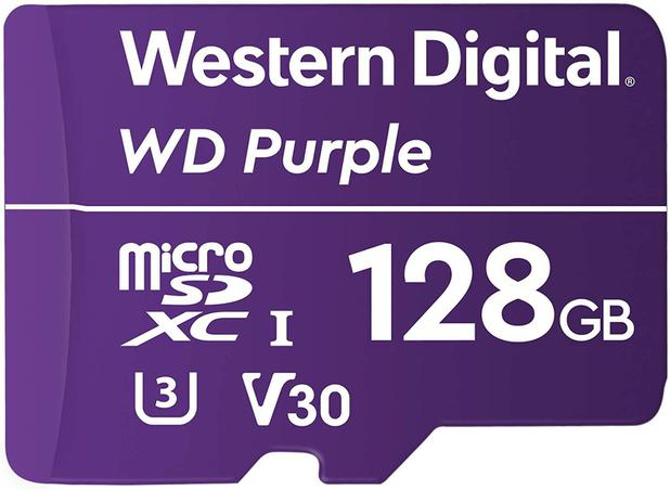 Cartão Micro SD 128GB WD Purple Western digital Intelbras