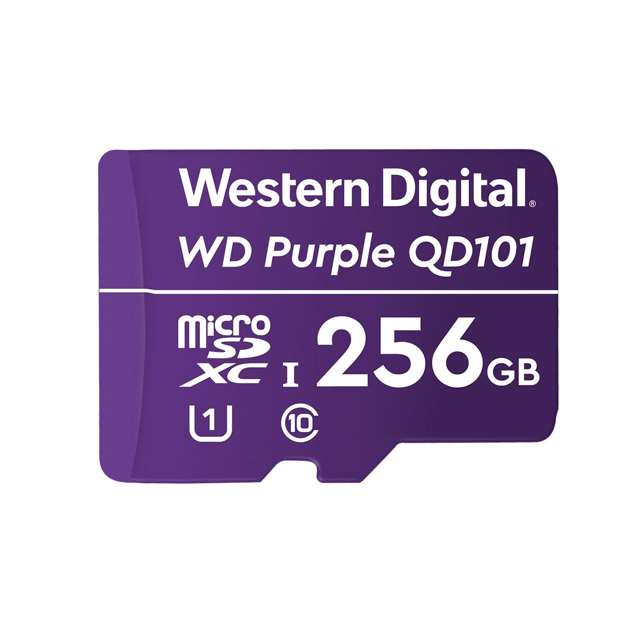 Cartão Micro SD 256GB WD Purple Western digital Intelbras