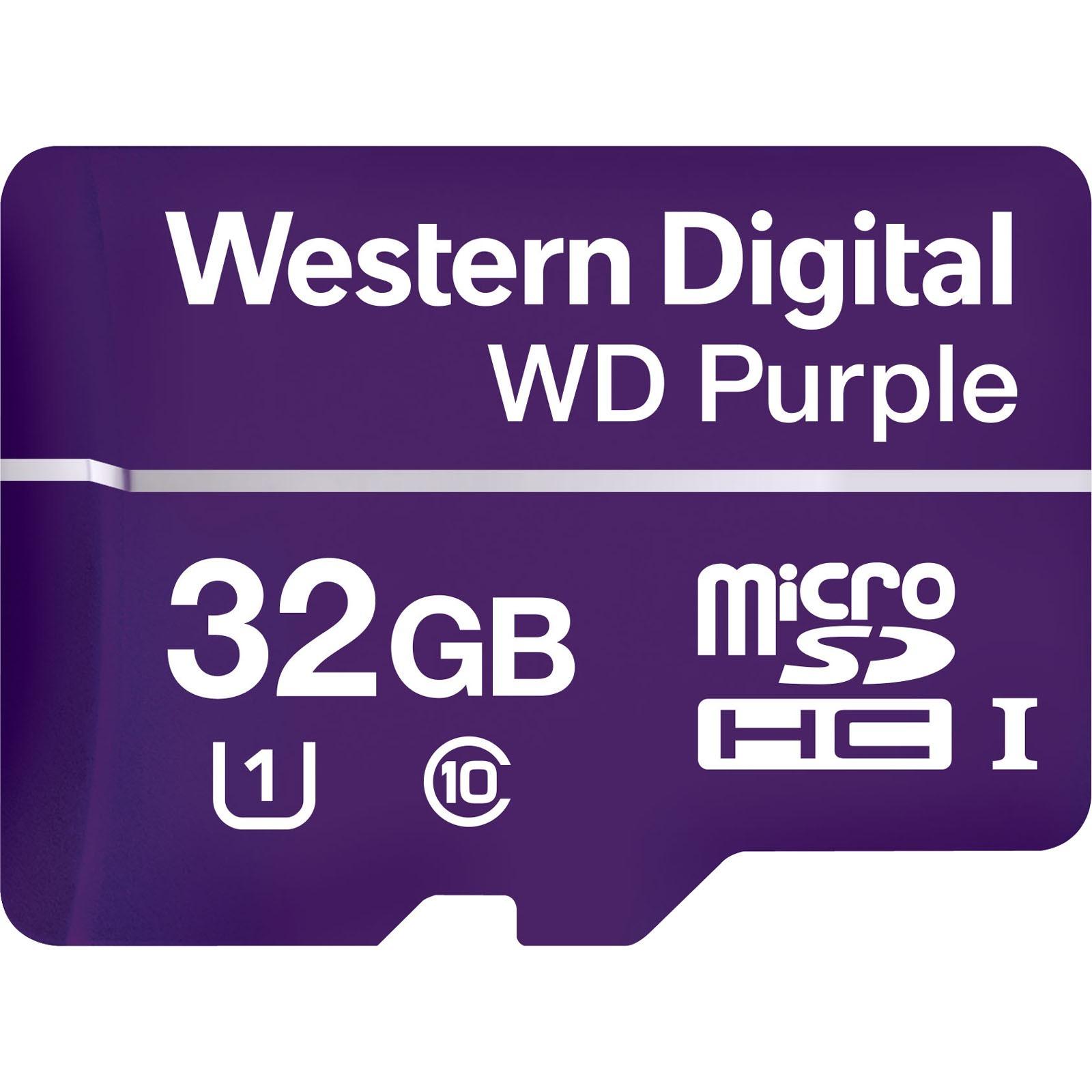 Cartão Micro SD 32GB WD Purple Western digital Intelbras
