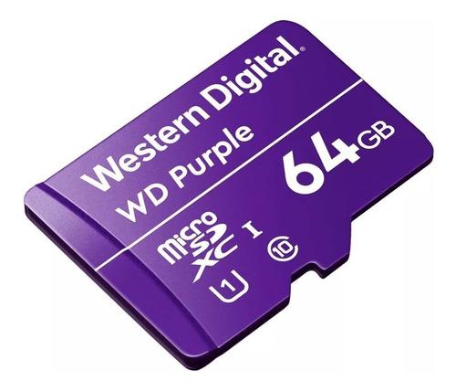 Cartão Micro SD 64GB WD Purple Western digital Intelbras