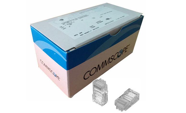 Conector RJ45 Cat-5e AMP Commscope - 100 Peças