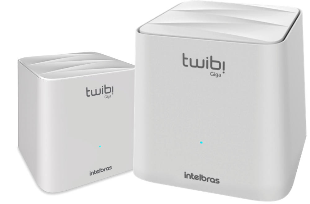 Kit Roteador Wireless Intelbras Twibi Giga Wi-Fi 5 Mesh AC 1200