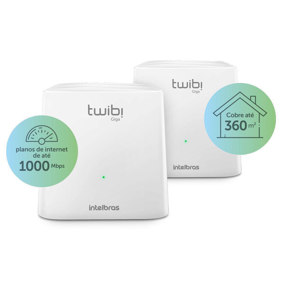 Kit Roteador Wireless Intelbras Twibi Giga Wi-Fi 5 Mesh AC 1200