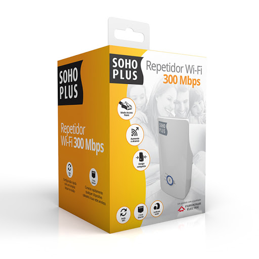 Repetidor WiFi Soho Plus Furukawa Wireless N 300 Mbps