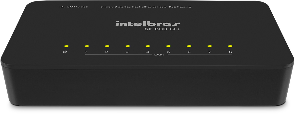 Switch Intelbras 8 Portas Fast Ethernet POE SF 800Q+