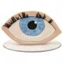 Olho Extensão de Cílios - Maquete Decorativo em Biscuit