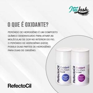 Oxidante Creme Refectocil p/ Tintura de Cílios e Sobrancelhas 3% 10 Vol. 100ml