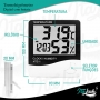 Termo Higrômetro Medidor Digital Temperatura Umidade Relógio