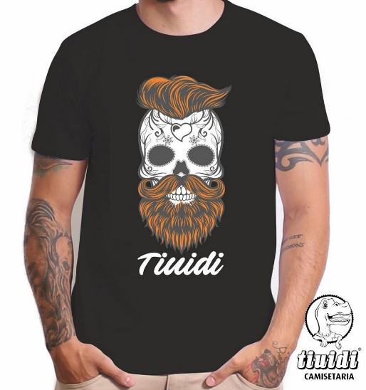 Camiseta Tiuidi Caveira  Ruiva