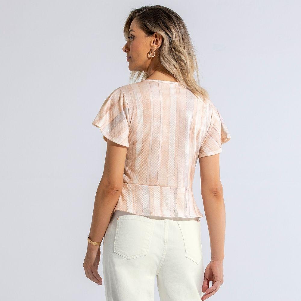Blusa Cropped em Malha Anarruga Anele