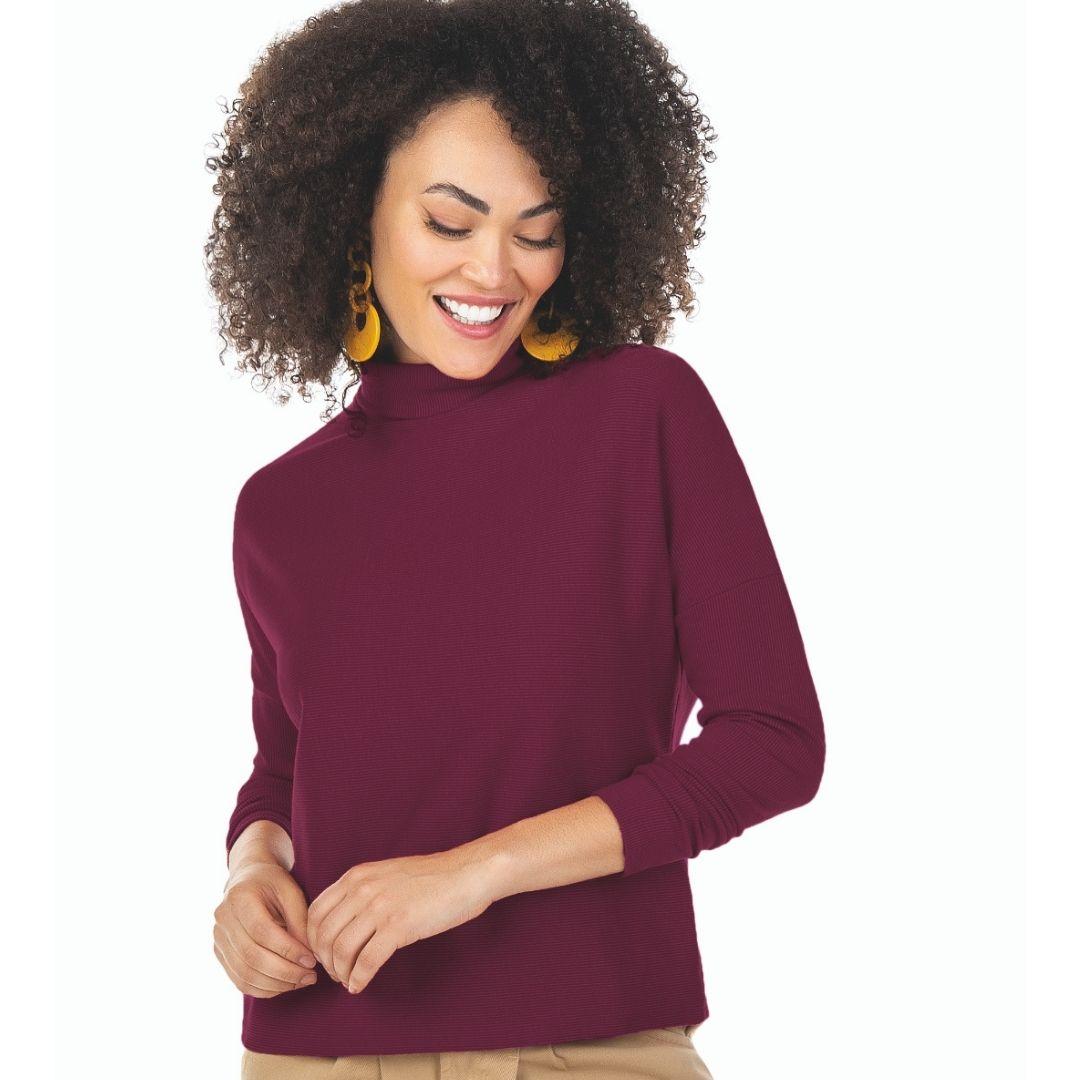 Blusa Em Cotton Bicolor