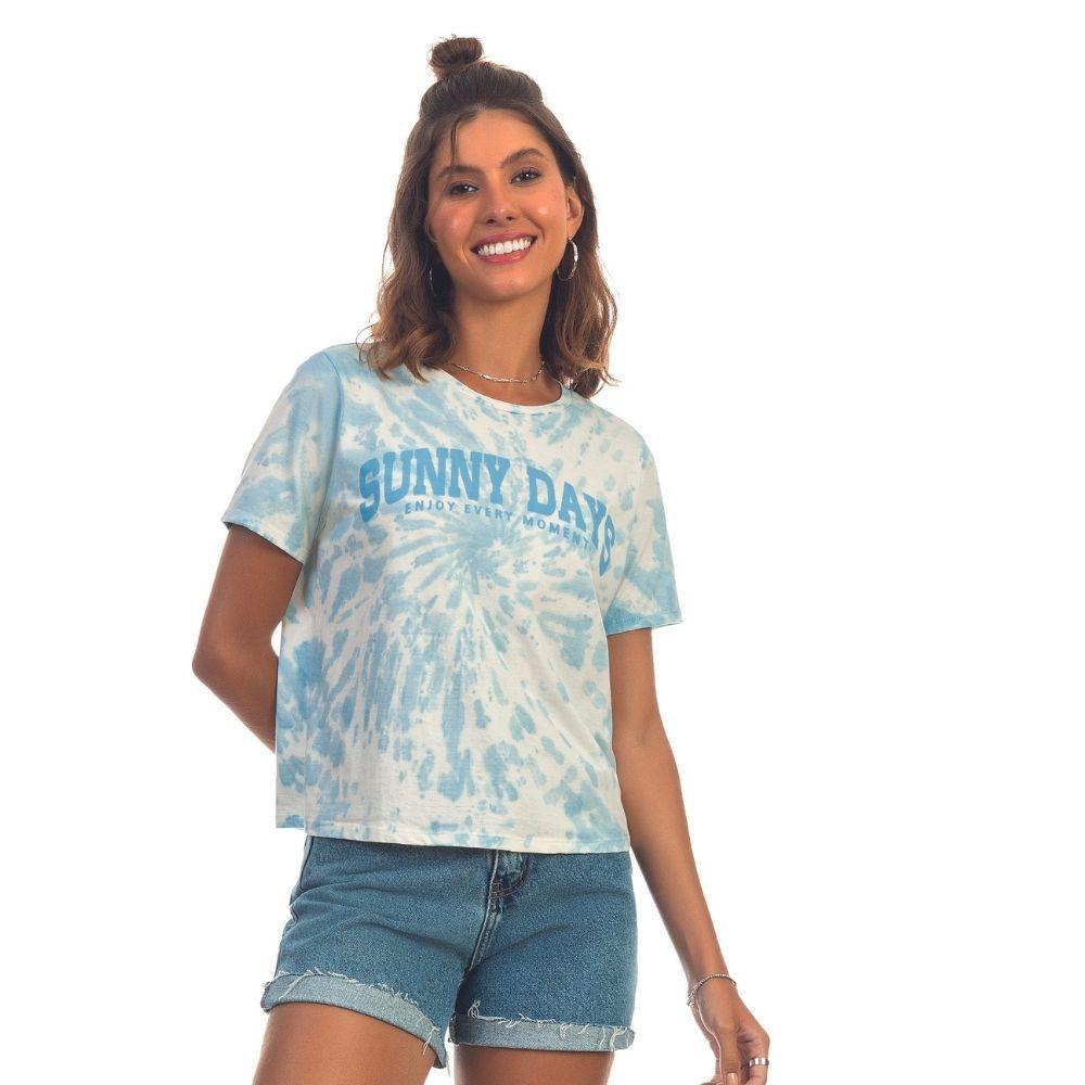 T-shirt em Malha com Lavanderia