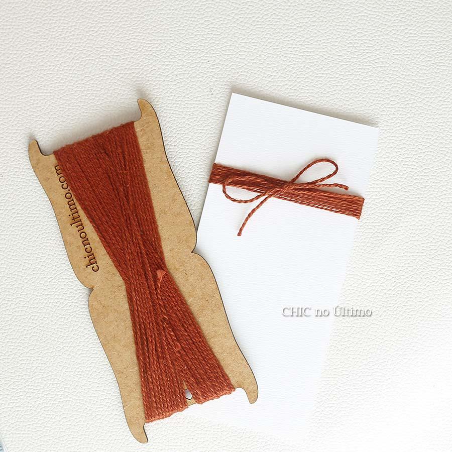 Barbante fio de algodão na cor Cobre - 20 metros