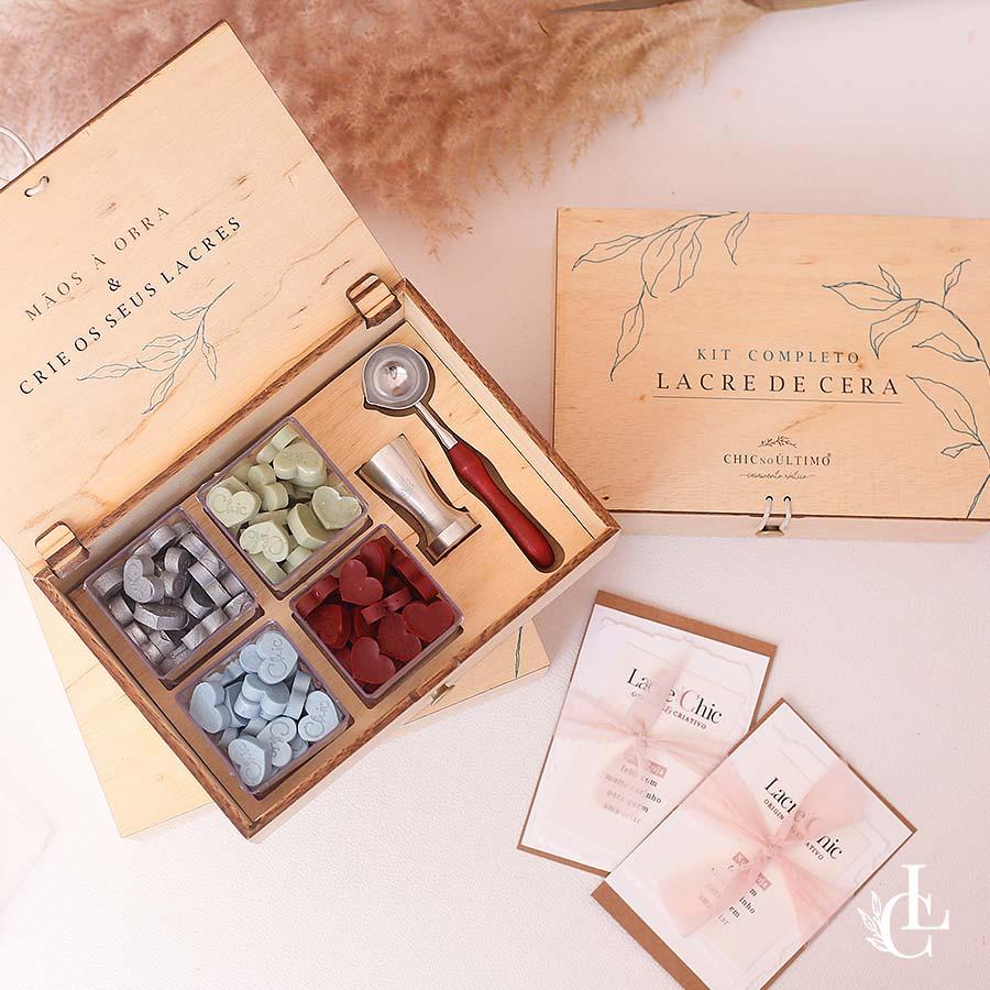 Kit Caixa Lacre de Cera Premium