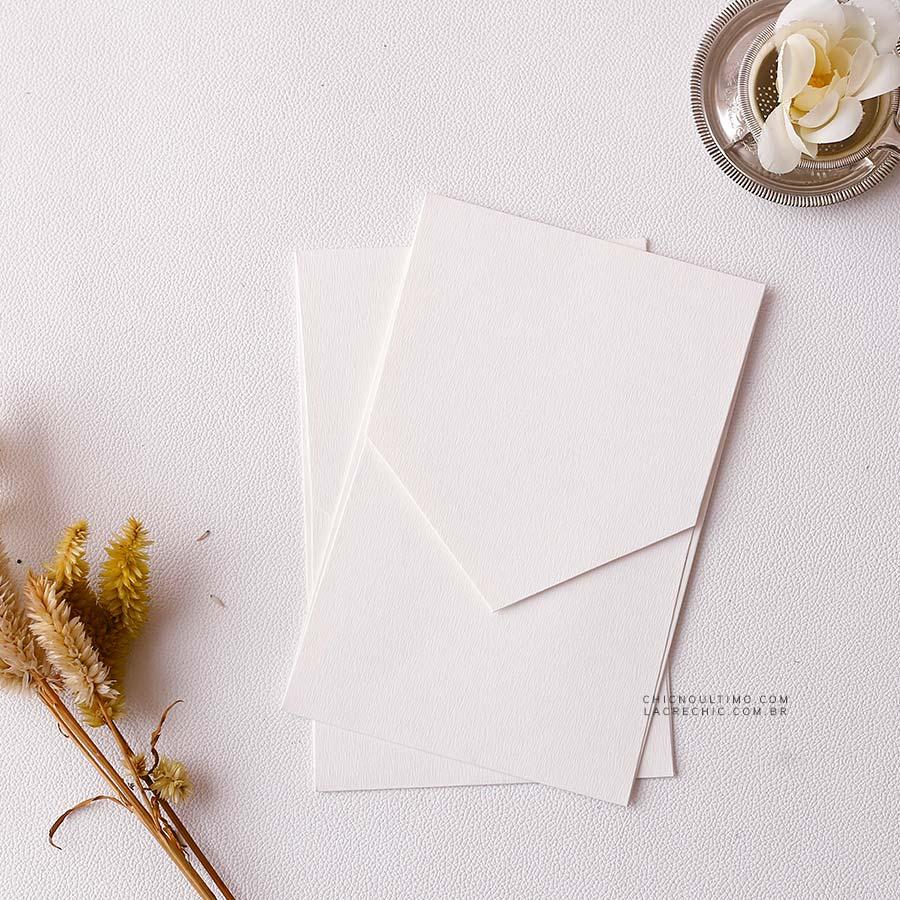 Envelope Branco - Geométrico P 13x20cm