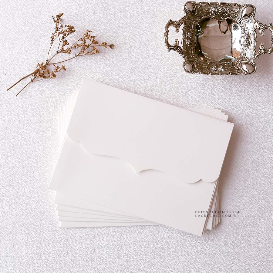 Envelope Branco - Vintage P 20x14,5cm