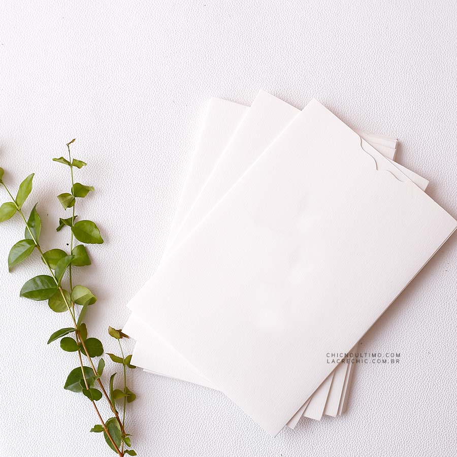 Envelope Branco - Luva P 14,5X21cm