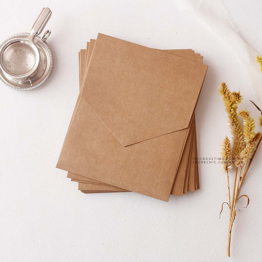 Envelope Kraft - Geométrico M 16,3x20cm