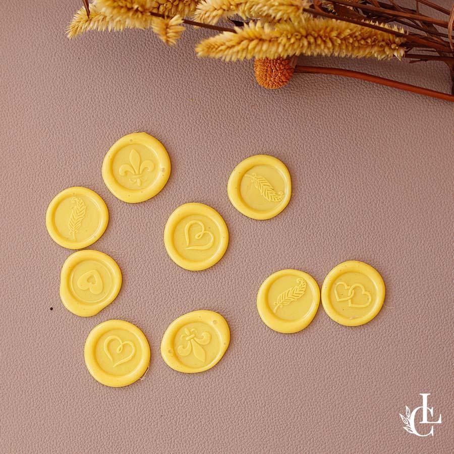 Lacre de cera pronto - Amarelo