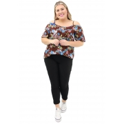 Blusa Lepoque Plus Size Visco Voil (Estampado)