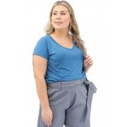 Blusa Lepoque Plus Size Viscolycra (Azul Jeans)