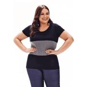 Blusa Lepoque Plus Size Viscolycra Com Recortes
