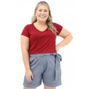 Blusa Lepoque Plus Size Viscolycra (Vermelho)