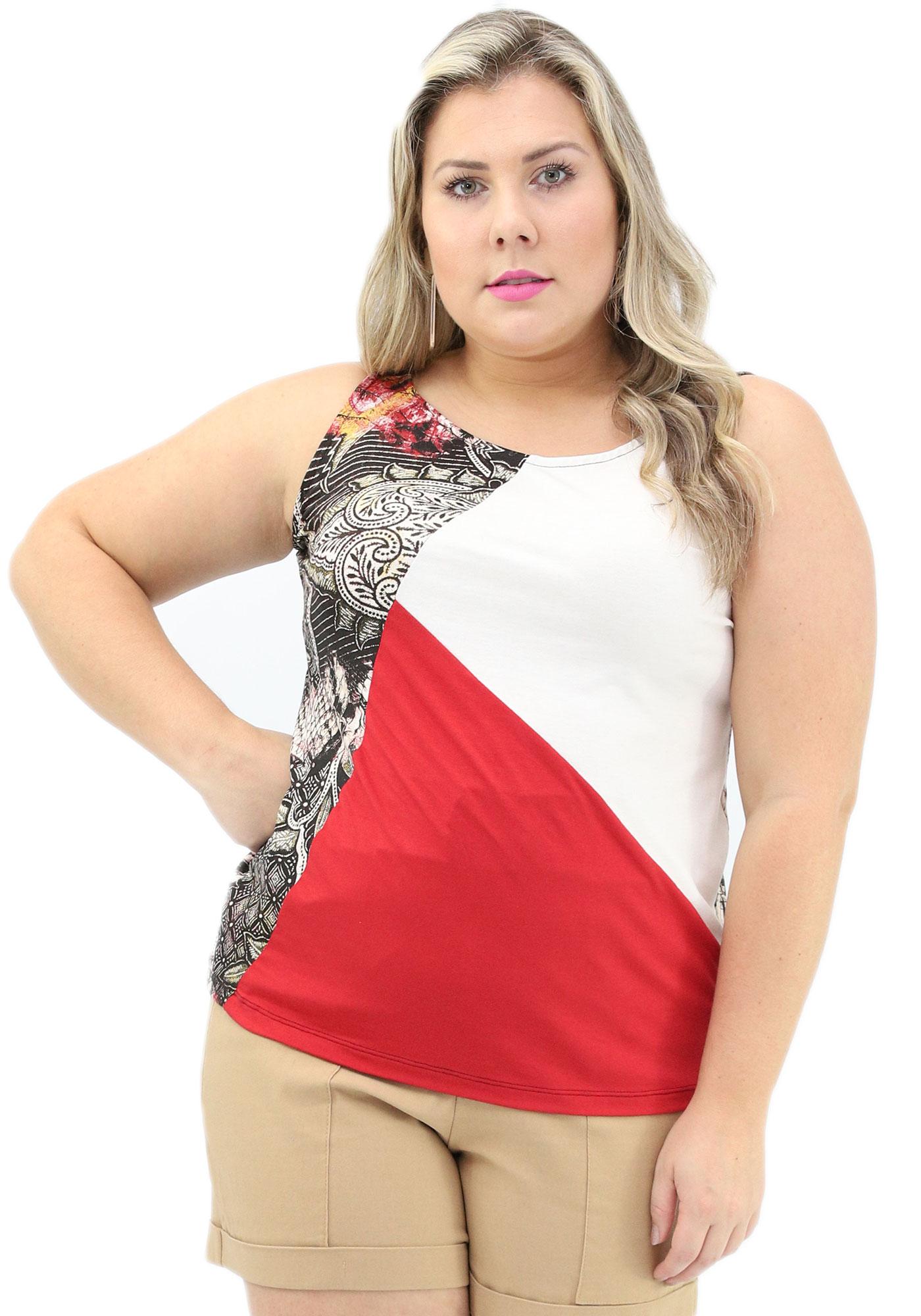 Blusa Lepoque Plus Size Viscolycra (Estampado)