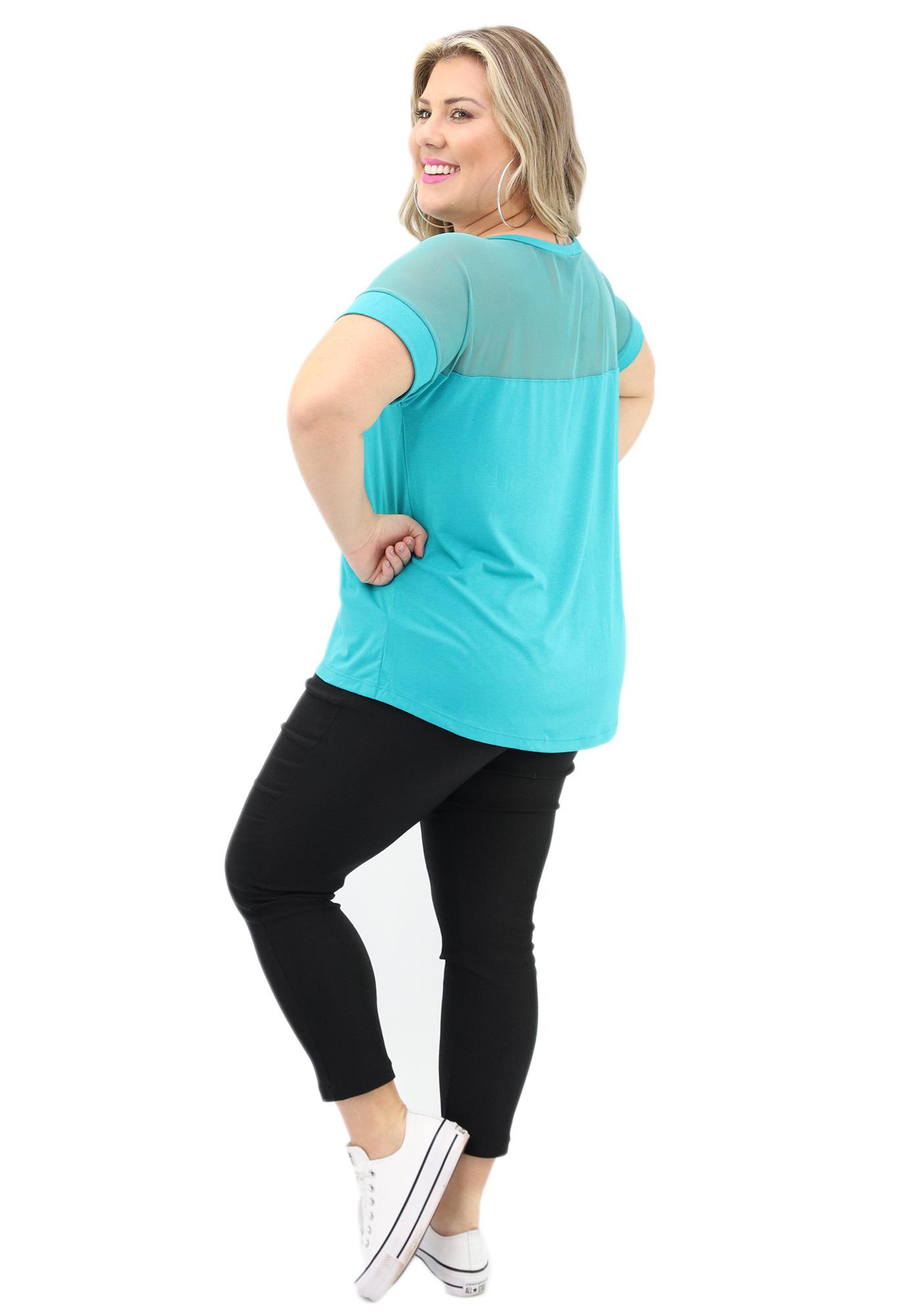 Blusa Lepoque Plus Size Viscolycra (Verde Claro)