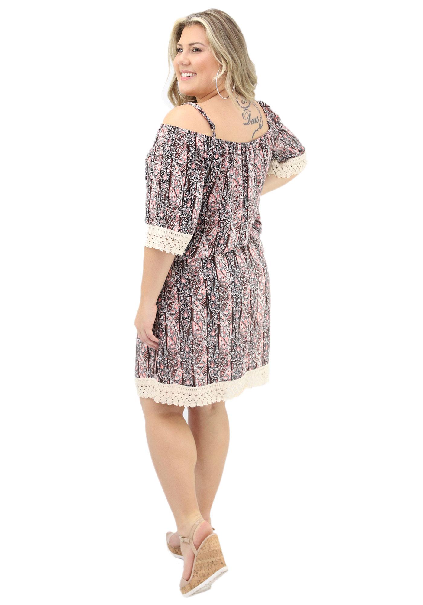 Vestido Lepoque Plus Size Visco Voil (Estampado)