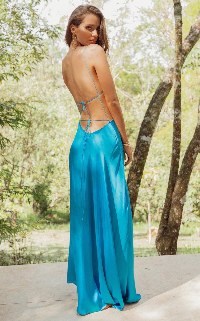 Vestido Longo Magma Blue