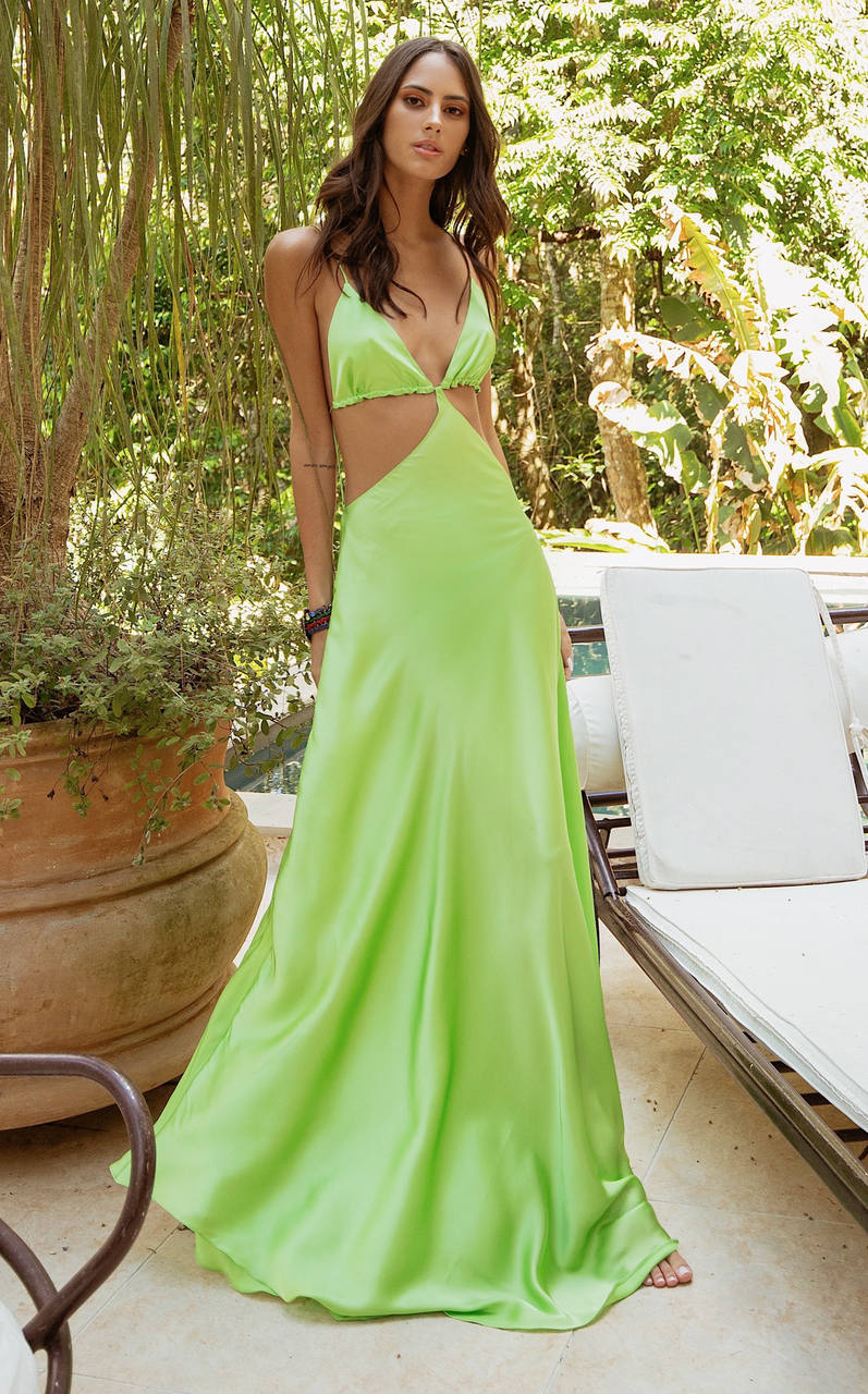 Vestido Longo Magma Green