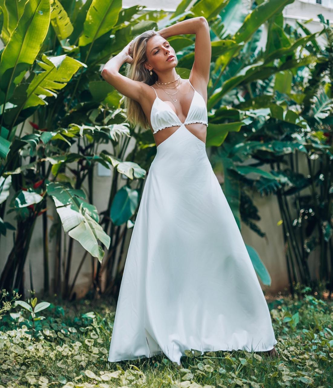Vestido Longo Magma White