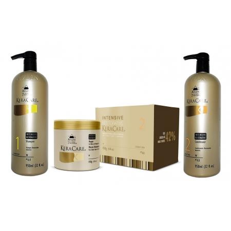 Avlon Keracare Kit Intensive Restorative Pós Progressiva - Máscara + Shampoo + Condicionador Grandes - G