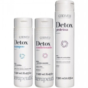 Cadiveu Kit Detox Home Care 3 produtos - Detox Proteína 320ml Detox Shampoo 250ml Condicionador Detox 250ml