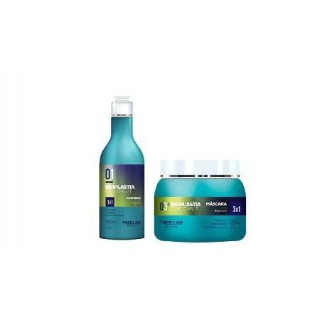 Duo Manutenção Shampoo 300ml + Máscara 250g Tree Liss Bioplastia Coconut - R